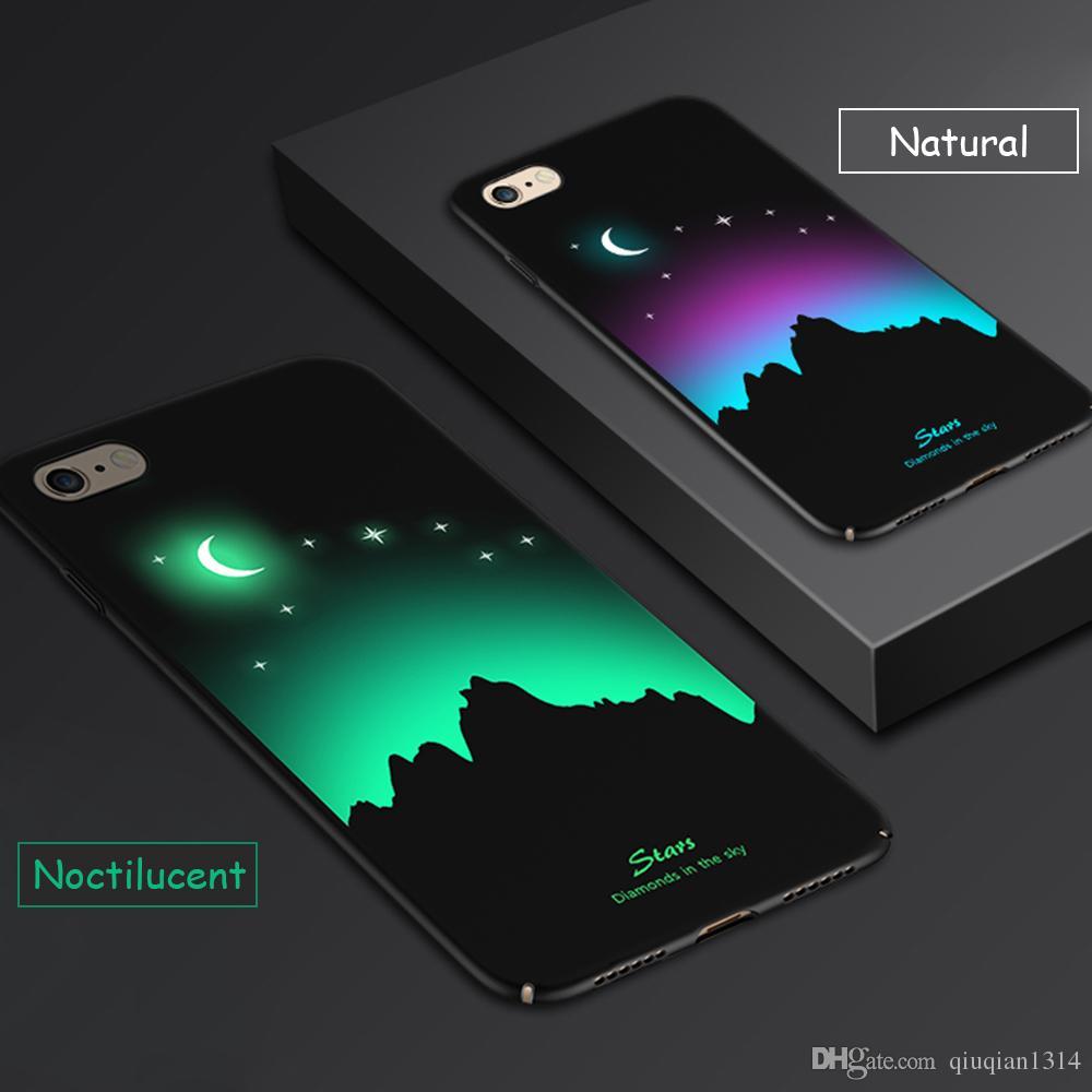 Etui De Protection Lumineux Pour IPhone 7 Glow In The Dark Relief Peinture Fluorescent Changement De Couleur Dur Coque Arrière Pour IPhone 8 Proposé ...