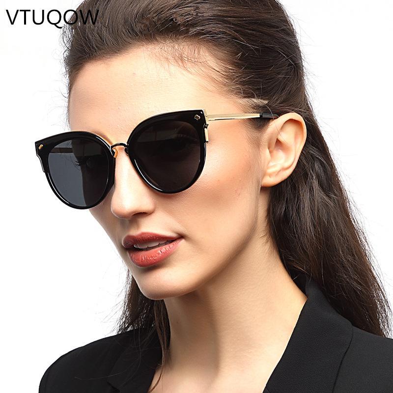 f8d180f3bf56d Compre Cat Eye Sunglasses Designer De Marca De Luxo Mulheres 2019  Polarizada Ao Ar Livre Condução Óculos De Sol Das Mulheres Do Sexo Feminino  Senhoras ...