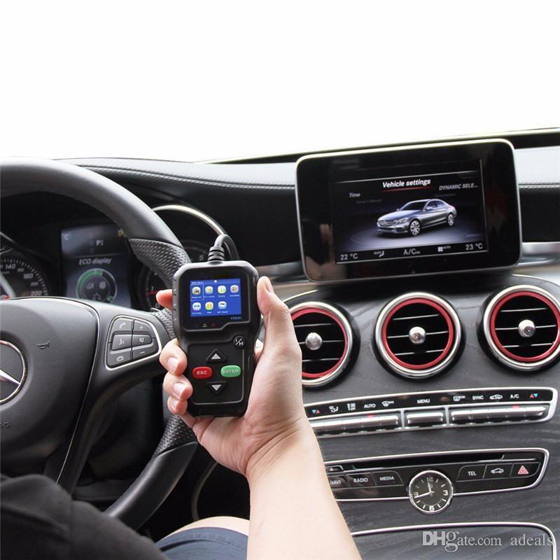 Lecteur de code des véhicules à moteur OBDII Le scanner de diagnostic de voiture de KONNWEI KW680 OBD2 est plein de fonctions OBD2 / EOBD Outil de balayage de voiture Scanners de panne de moteur du véhicule