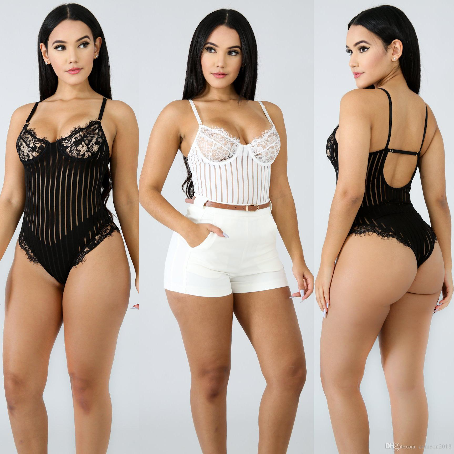 e5571b1c23 Hot Selling Women Clothes Overalls Women Jumpsuits Lace Strap ...