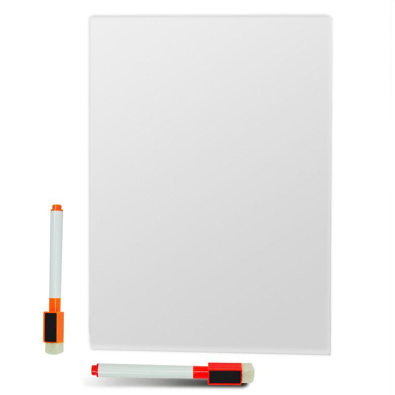 a4 dry erase flexible magnetic whiteboardmessage boardmemo paddialog box magnetmagnetic white board with 2 dry erase markers print your own fridge - Magnetic White Board