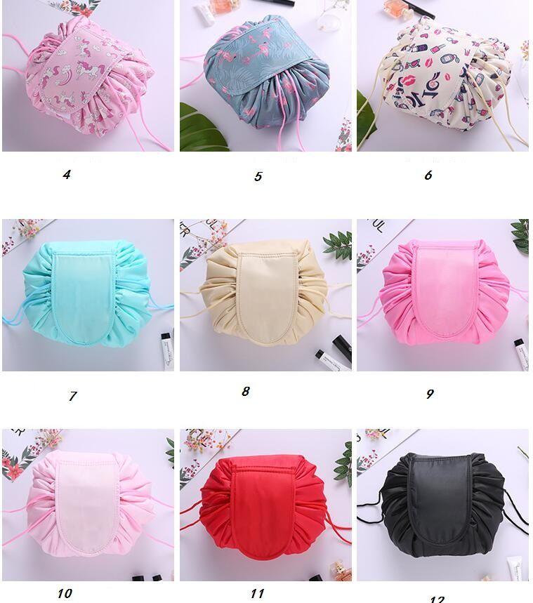 2019 Lazy Make Up Makeup Bag Portable Travel Korea Drawstring Bulk Storage  Cosmetics Dual Magic Bags Artist Wash Bags Organizer From Dhgatebags 9cef646113d8d