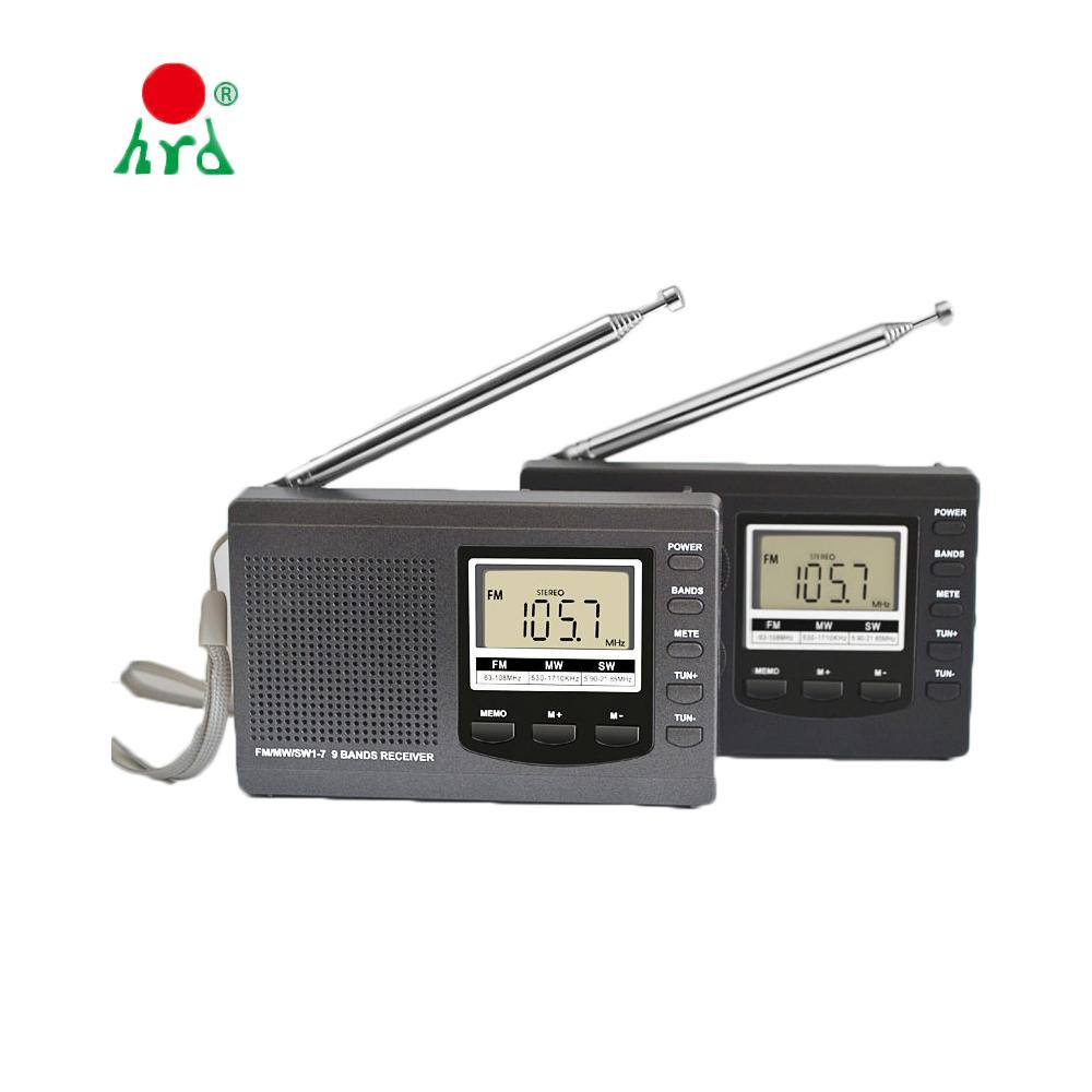 Radio FM all'ingrosso SW-MW con display digitale con schermo Altoparlante USB Lanyard Radio portatile