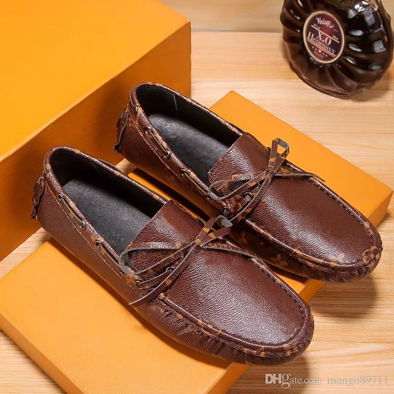 Acheter Vente Chaude Hommes Chaussures NOUVEAU Hommes Mocassins D été Cool  Automne Hiver Hommes Flats Chaussures Faible Homme De Luxe Marque Casual ... 165af5f172cc