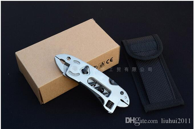 NEWACALOX Multitool Pliers Pocket Knife Screwdriver Set Kit Adjustable Wrench Jaw Spanner Repair Survival Hand Multi Tools Mini Free shippin