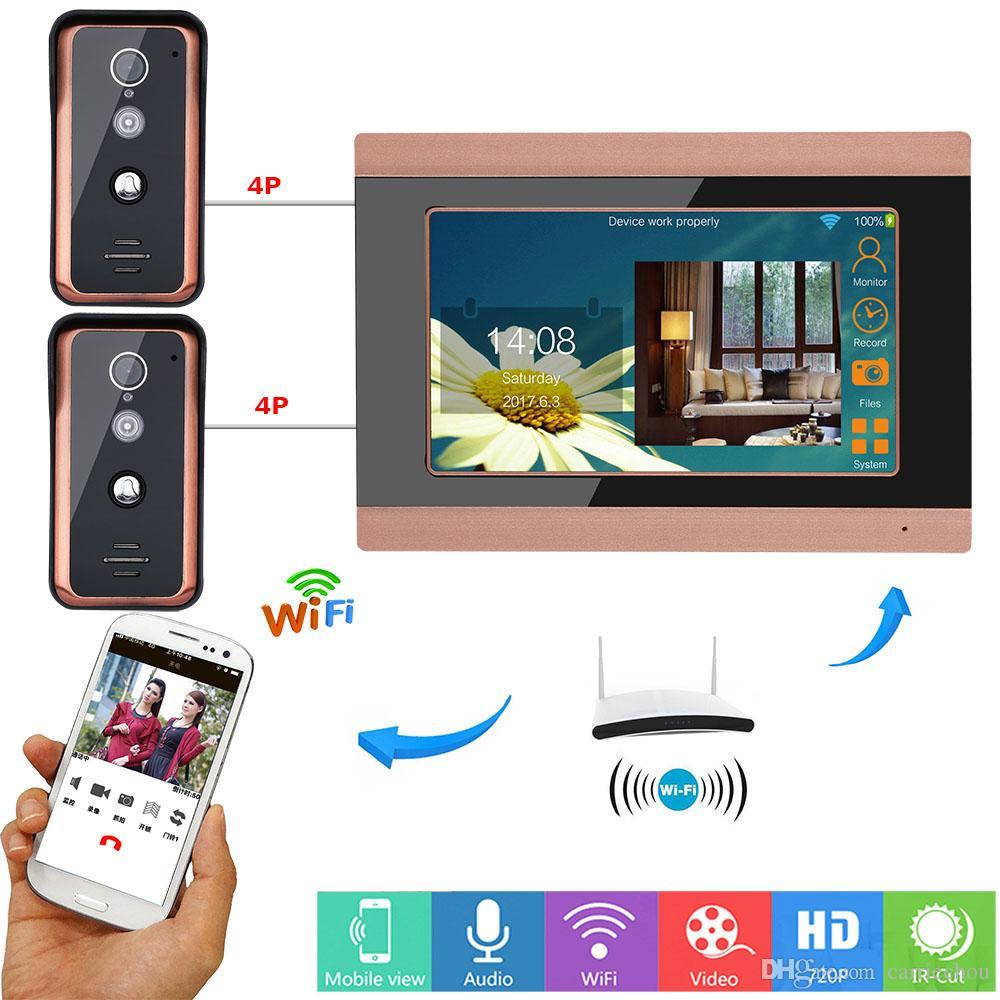 9 Inch Wired Wifi Video Door Phone Doorbell Intercom Entry System