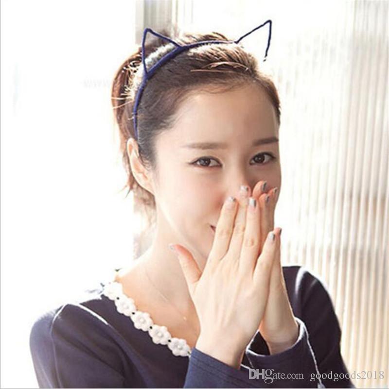 Hot Sale Girls Hair Accessories Korean New Cute Cat Ears Headband Children Headdress Girls Hairpin Fine Accessories TO513