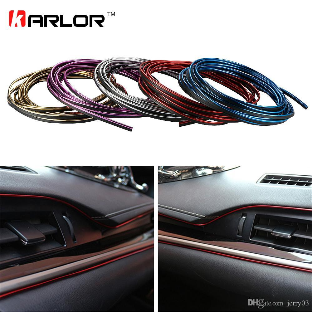 5m Car Styling Interior Decorative Thread Brand Sticker Moulding ...