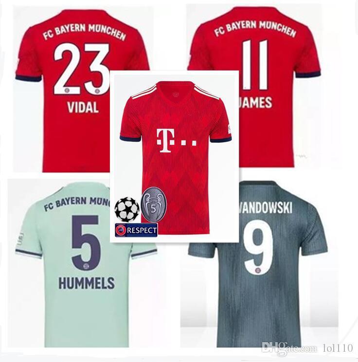 2018 2019 Bayern Munich Camiseta De Fútbol Thai Quality Müller RIBERY  ROBBEN LEWANDOWSKI Camisetas De Fútbol Bayern Munich Uniformes De Fútbol  Por Lol110 10207ffcd63b2