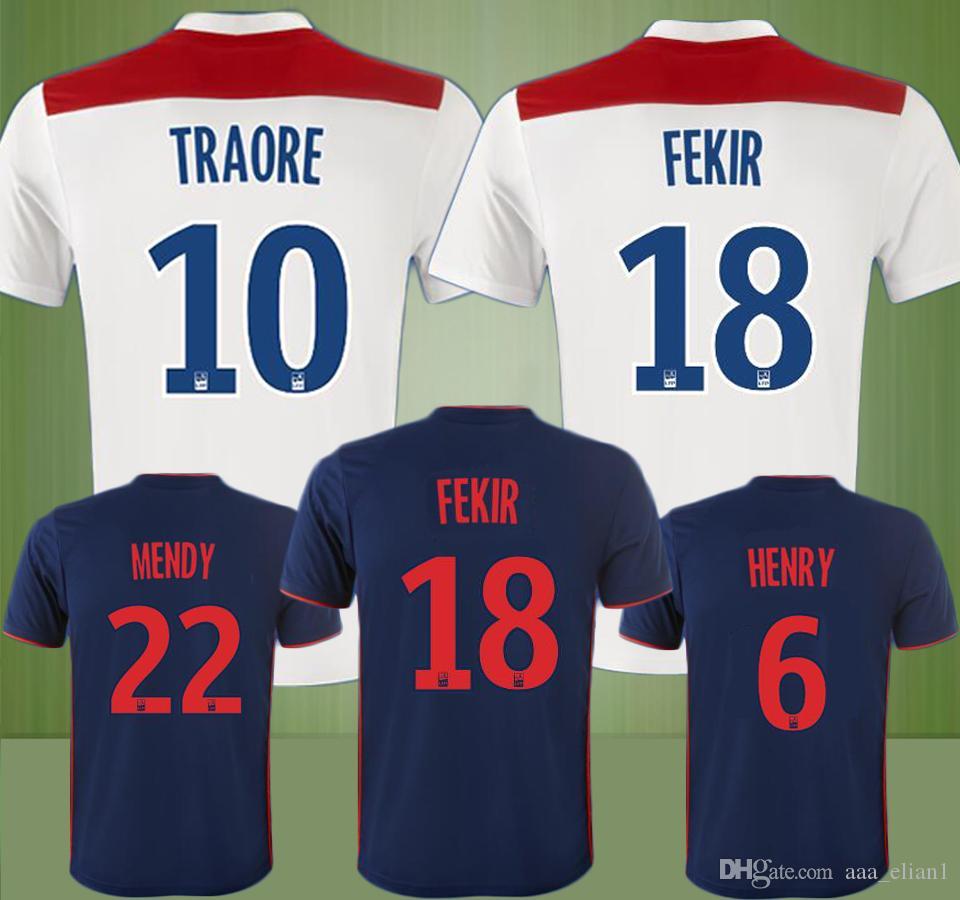 1d4241383 New olympique lyon fekir traore mendy henry home soccer jersey jpg 960x900 Olympique  lyon jersey