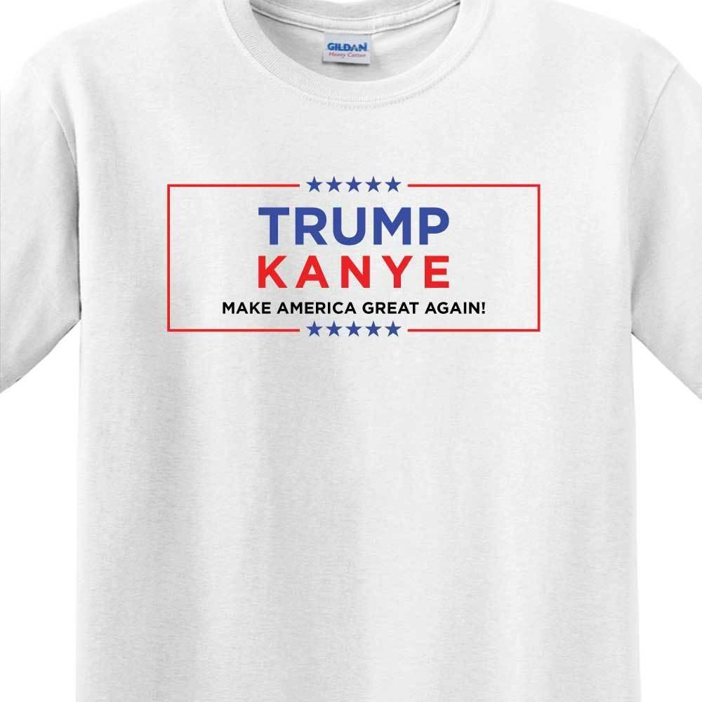 04aa996a7f68 TRUMP / KANYE FOR PRESIDENT 2020 MENS WHITE T SHIRT MAKE AMERICA GREAT  AGAIN Funny Unisex Casual Gift Awesome Cheap T Shirts Online Shopping For T  Shirt ...