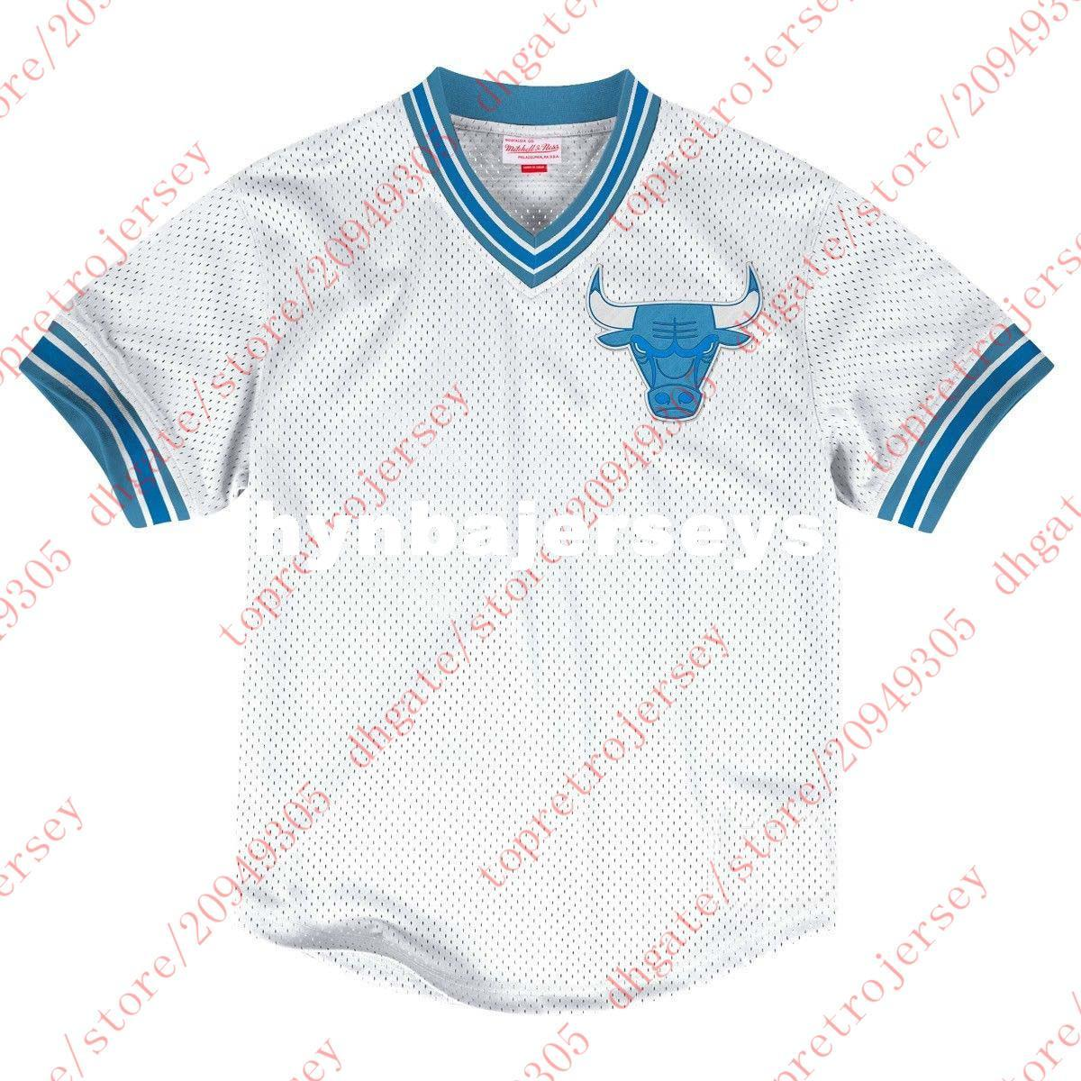 863348930 Cheap Custom Any Number Any Name Mitchell   Ness Top Mens Mesh V ...