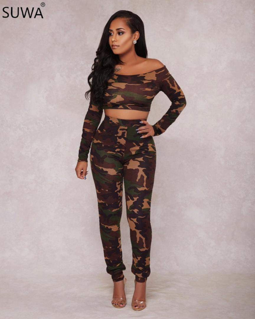 a44116cd27d6 2019 Nice Product Two Piece Set Women Bodysuit Camouflage Combinaison Femme  Overalls Fancy Jumpsuit Women Rompers 2252 From Vikey10