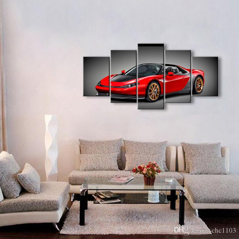 high-definition print car canvas oil painting poster and wall art living room picture C5-12