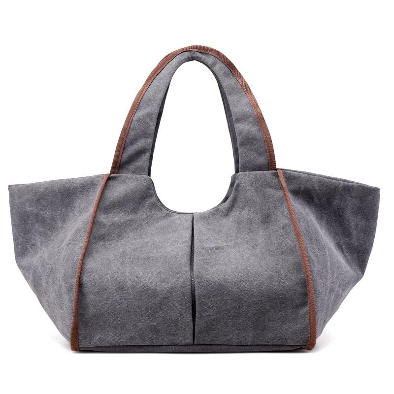 New Vintage Canvas Women Handbags Hobo Bag WomenHandBags Female Casual Belt Big Lady Shoulder Beach Travel Bag Saco De Lona Ms.