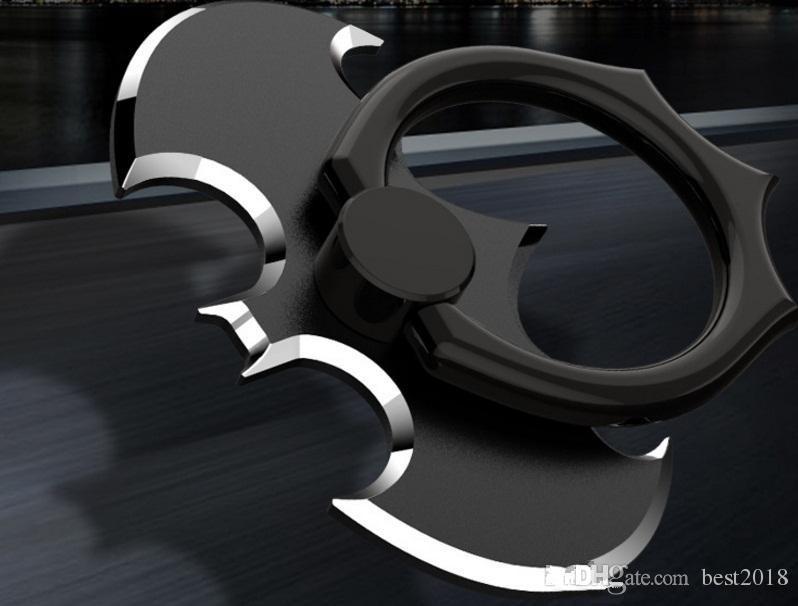 Finger Ring Holder Universal Stand 360 Degree Batman Luxury metal Phone Finger Ring Holder For i X 8 Plus7 6 s8 free DHL
