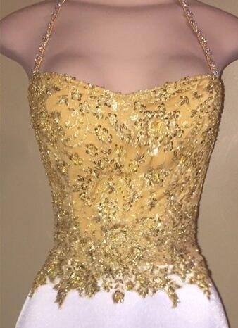 2021 Sexy Saghetti Strap Gold Spitze Appliques Perlen Prom Kleider Kurzes Knielang Slim Lange African Cocktail Party Kleider Formale