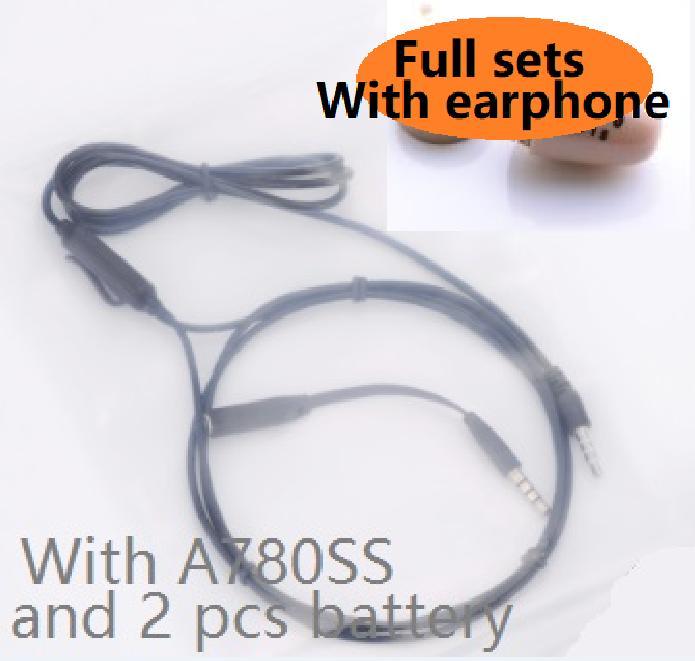 EDIMAGE Alta Qualidade mini Neckloop Loopset e 2x baterias de trabalho com fone de Ouvido GSM Earbud MICROFONE Embutido