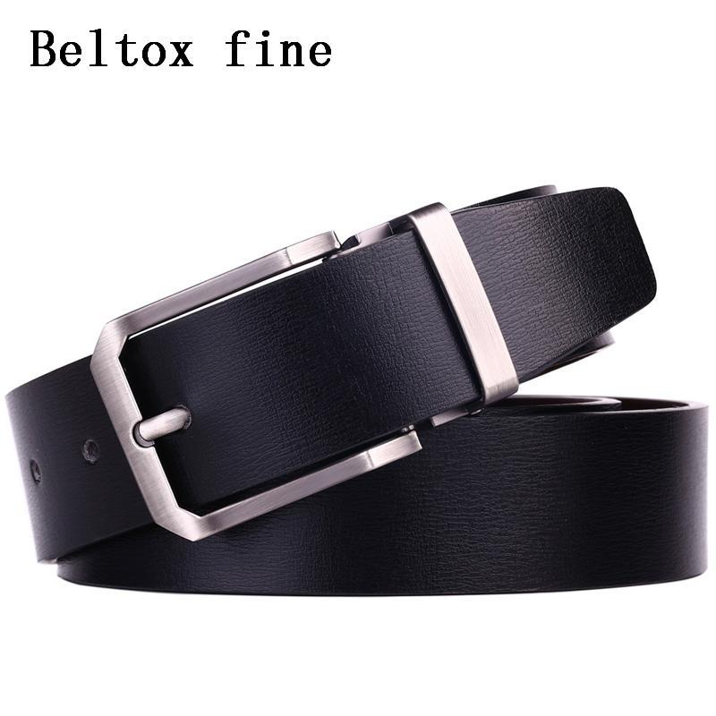 Compre Cinturones De Cuero Genuino Para Hombres De 1.3 Cinturones De Vestir  Anchos Marrón   Negro Ambos Lados Cintura De Diseño Ceinture Cinto Designer  De ... 67bc40d5047c