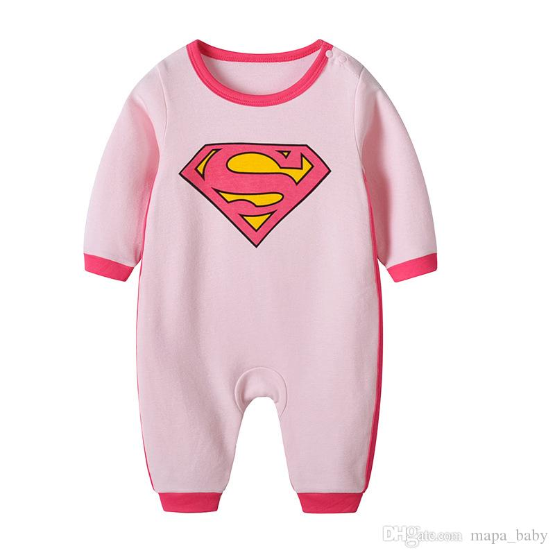 8f0be8fc9 2019 Newborn Baby Boy Batman Super Man Batman Romper Bodysuit ...