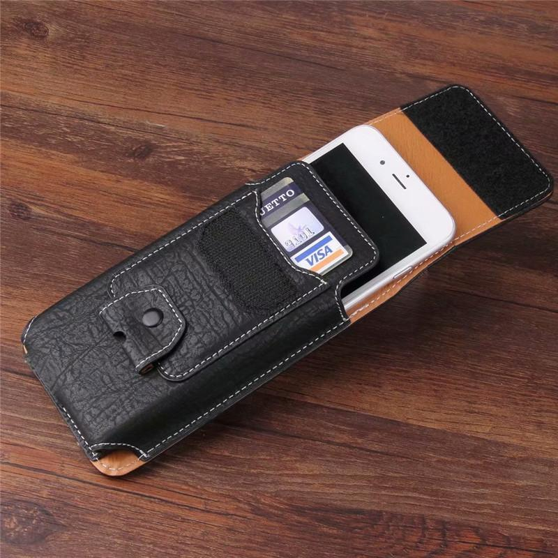new styles 3bb59 3073a Universal Cell Phone Leather Case Waist Packs Belt Clip Pocket For Nomu M6  T18 S10 Pro S30 Mini S20 Senseit A150 C155 W289 A250