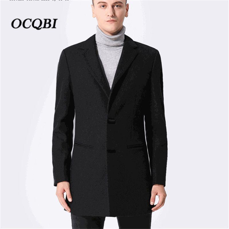 Plus Size M-3XL 2018 Smart Casual Mens Coats Overcoats Winter Designer  Dress Coat Mens High Quality
