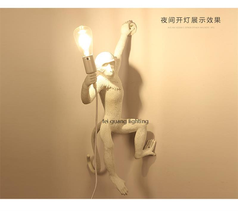 الحديث القرد e27 led قلادة الثريا الإضاءة بسيطة الراتنج حبل القنب بهو أدى الثريات لوفت شنقا أضواء