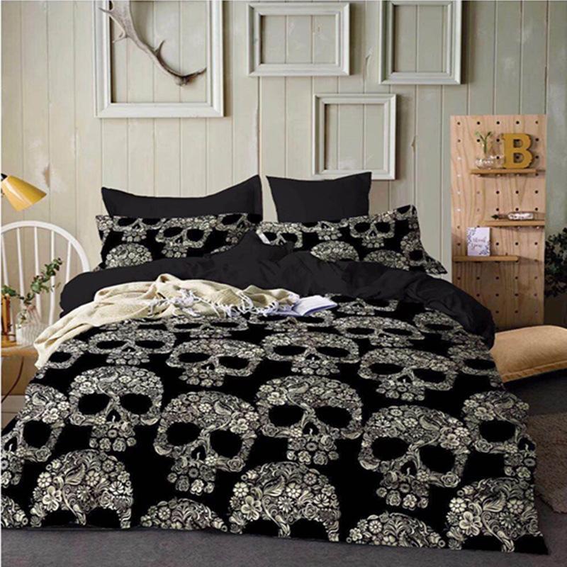 58e08735c Compre Hippie Pug Conjunto De Cama Queen Size Bed Set Para Crianças Bonito  Bulldog Impressão Capa De Edredão Início Roupas De Cama De Narciss