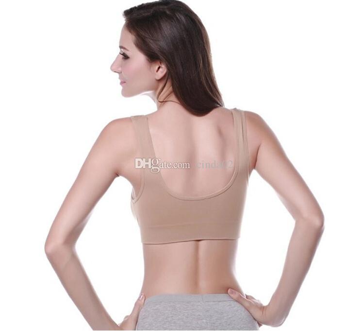 جودة عالية 6 ألوان سلس الرياضة البرازيلي أزياء مثير البرازيلي اليوغا الصدرية 6 حجم المرأة حمالات الصدر