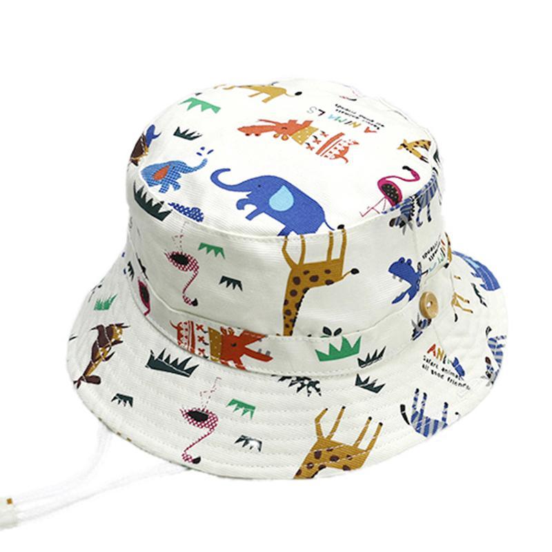 High Quality Cartton Zoo Baby Summer Hat Cotton Kids Boys Girls ... 3d4803b11b5a