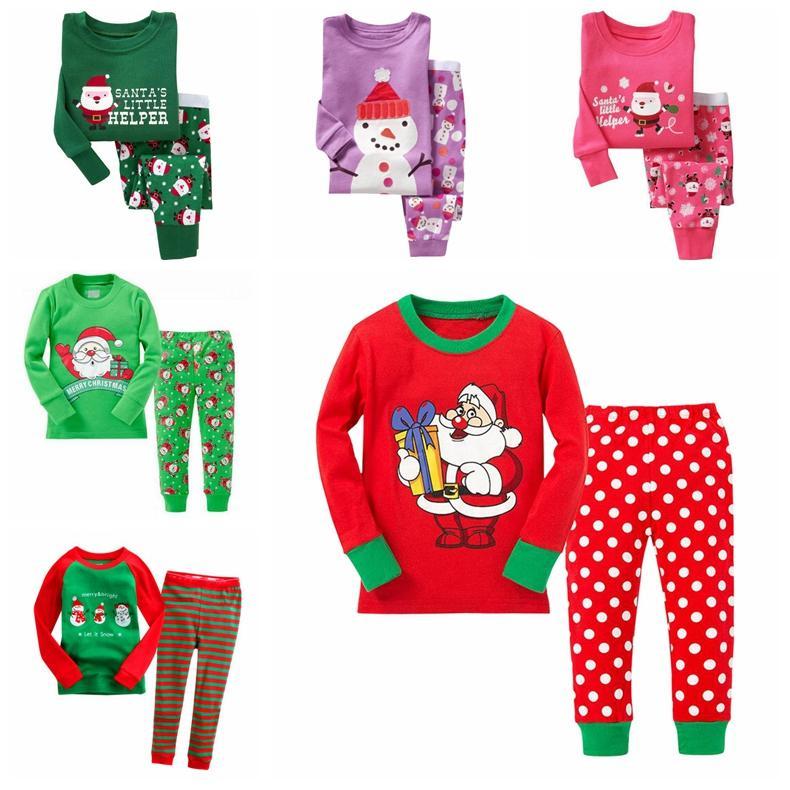 fa1781df4a68 Children Christmas Pajamas Set Cartoon Kids Pijamas For Boys Girls ...