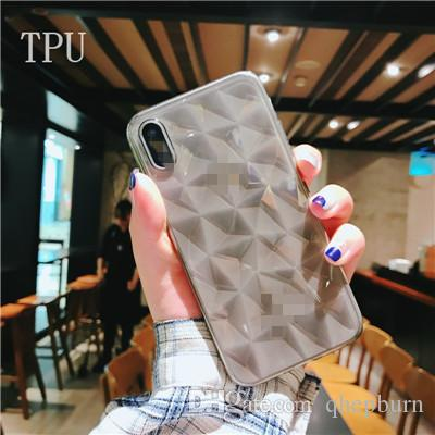 New TPU soft shell ! For iphone6/7/8/X,Super thin diamond diamond TPU soft shell, mobile phone protective cover.