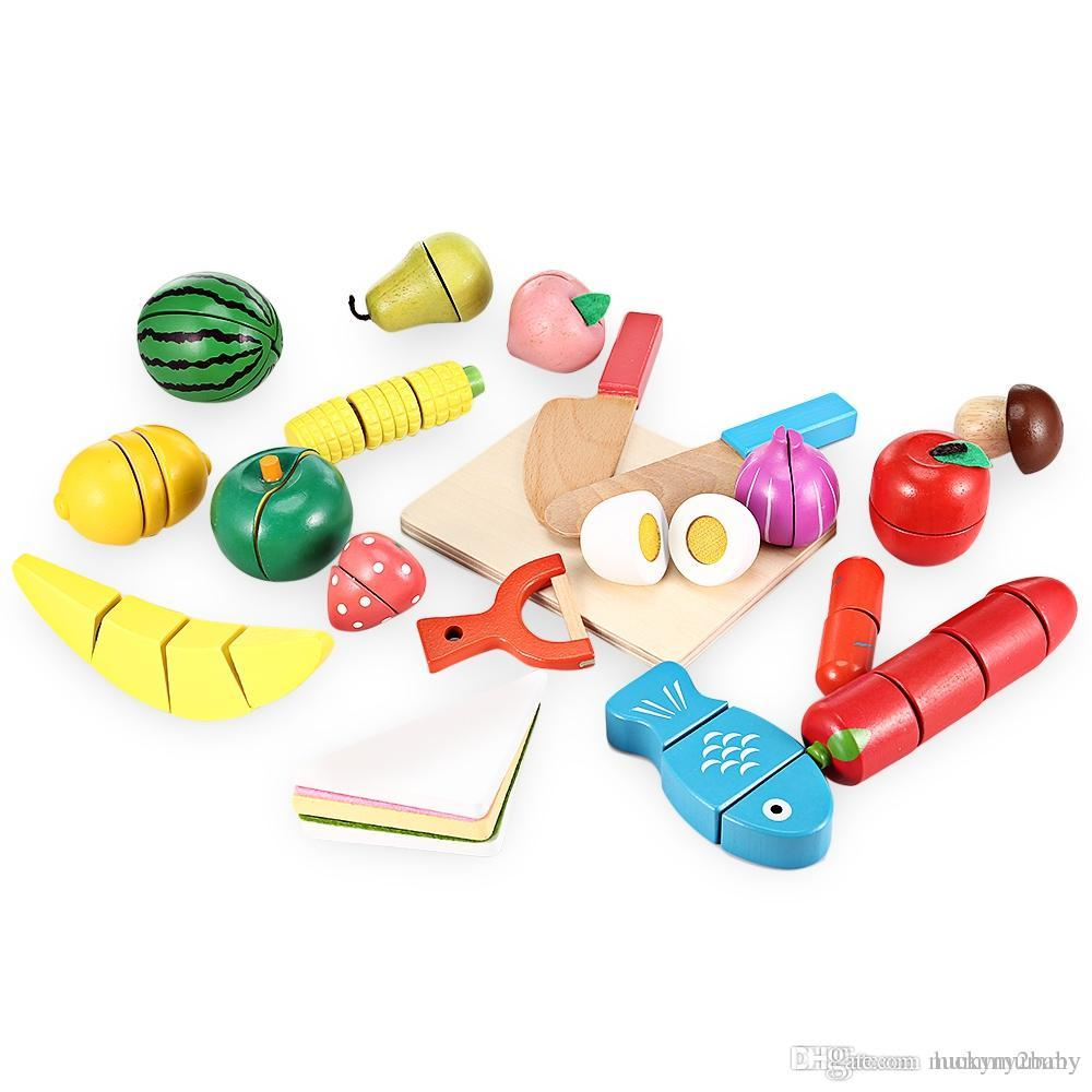 Online Cheap Wooden Cutting Fruits And Vegetables Barreled Toy ...