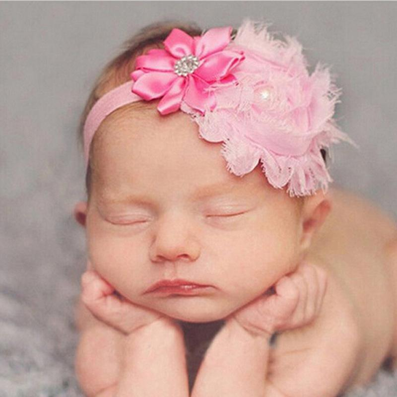 Baby Flower Head Bands Newborn Crystal Tiara Children S Hair Bands Crown Hair  Accessories Photography Props Headwear Red Hair Accessories Red Flower Hair  ... cca5d2cddec