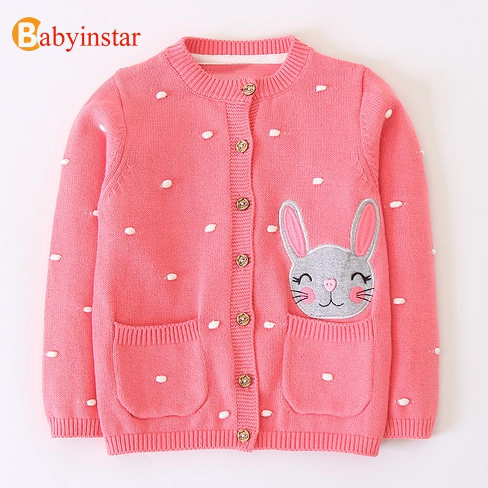1b47ae4e4 Babyinstar Baby Girls Sweater 2018 Lovely Rabbit Pattern Long Sleeve ...