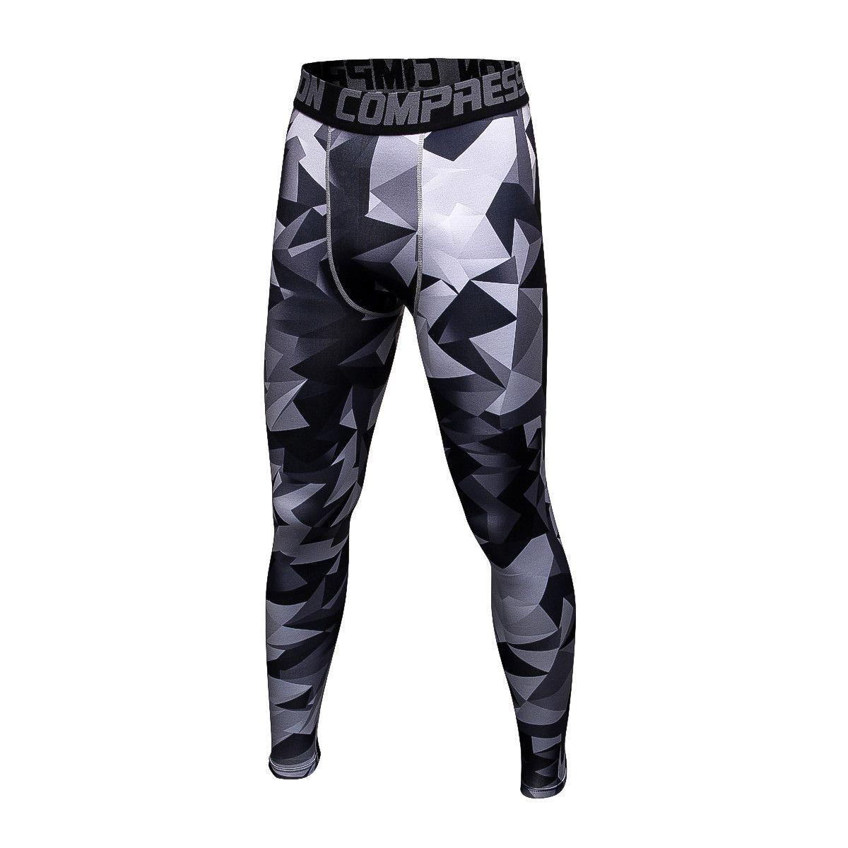 3d75308c0a3 Mens Compression Pants Bodybuilding Jogger Fitness Exercise Skinny ...
