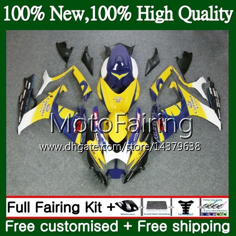 Body Blue CORONA For SUZUKI GSX R600 K6 GSX-R750 GSXR 600 06 07 25MF22 GSX-R600 GSXR750 06 07 GSXR 750 GSXR600 2006 2007 Fairing Bodywork