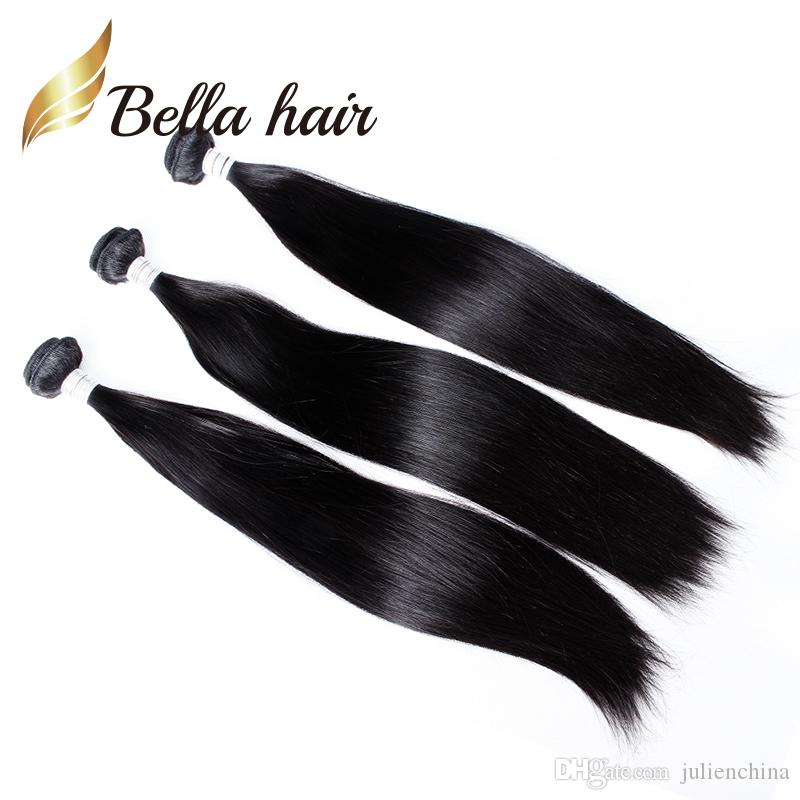 Bundles 100% 9A Brazilian Remy Virgin Human Hair Weft Silky Straight Natural Color Julienchina BellaHair