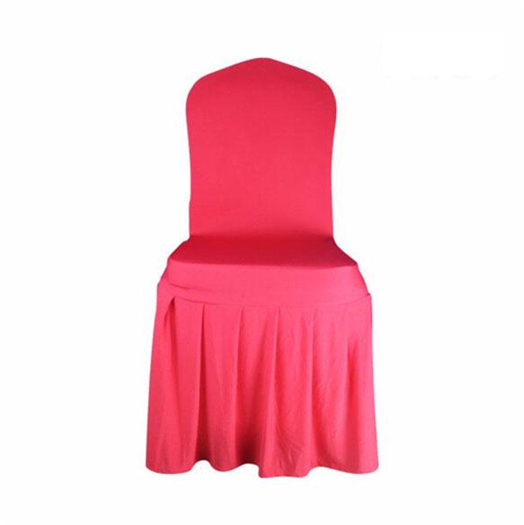 Chair skirt cover Wedding Banquet Chair Protector Slipcover Decor Pleated Skirt Style Chair Covers Elastic Spandex