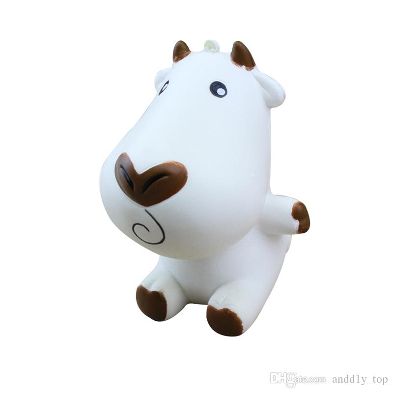 Relax Soft Cow Milk Squishies Child Relief Kawaii Phone Pendant Toy Dairy Squishy Scent Milch Imitation