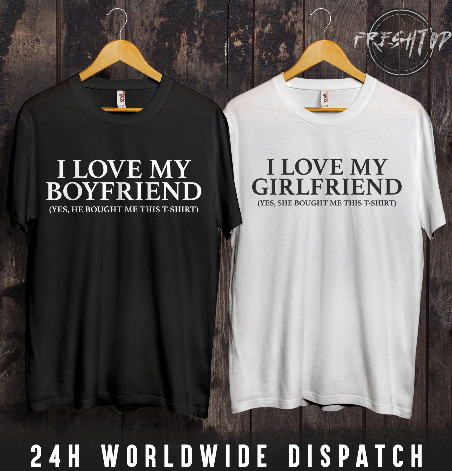 I Love My Girlfriend Boyfriend T Shirt Valentines Day Gift Present