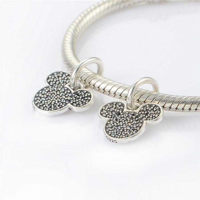 Dangle silver charms real 925 sterling silver fits pandora style bracelets sparkling 791446NCK H6