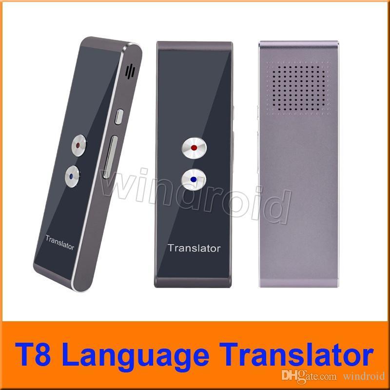 Traduction multilingue en temps réel bidirectionnelle de traducteur vocal intelligent portatif pour l'apprentissage de la réunion d'affaires itinérante T8 avec la boîte de vente au détail