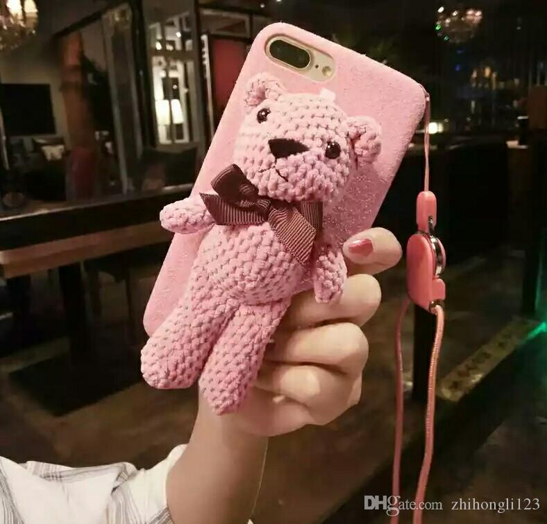 info for 268df e015d mobile phone protection shell Drop for women iphone8 phone case Warm the  cute little bear s cellphone case