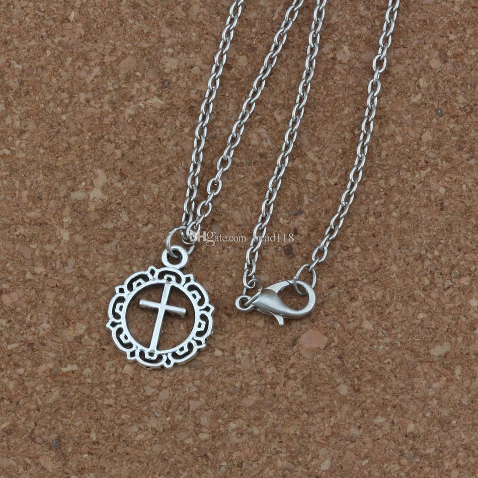 12//24pcs Tibetan Silver Star Charms Round Pendants 16x20mm Jewelry Findings