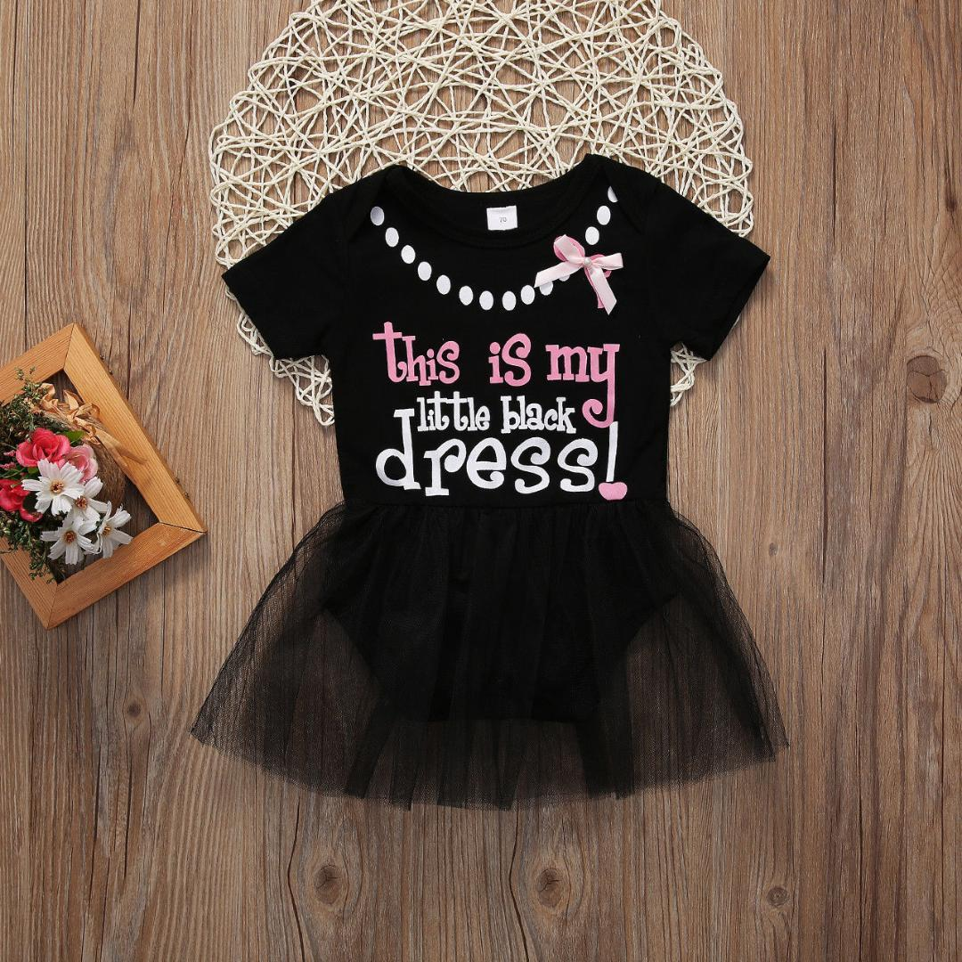 de82d4969877 2019 New Kid Baby Girl Dress MY LITTLE BLACK DRESS Lace Flower Princess  Pageant Tutu From Cornemiu, $39.62 | DHgate.Com