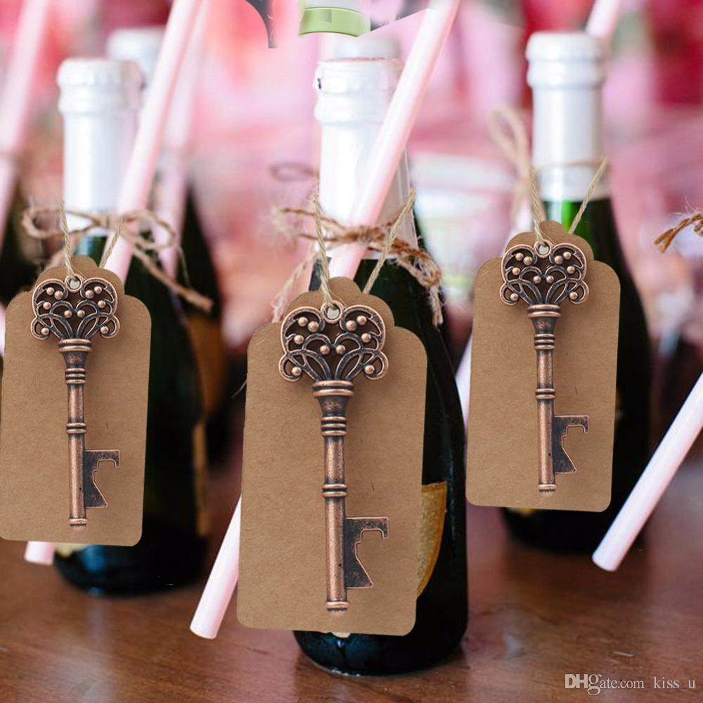 Wedding Gifts for Guests Souvenirs Skeleton Bottle Opener+Tags Party Favors Festive Party Supplies Wedding Decoration