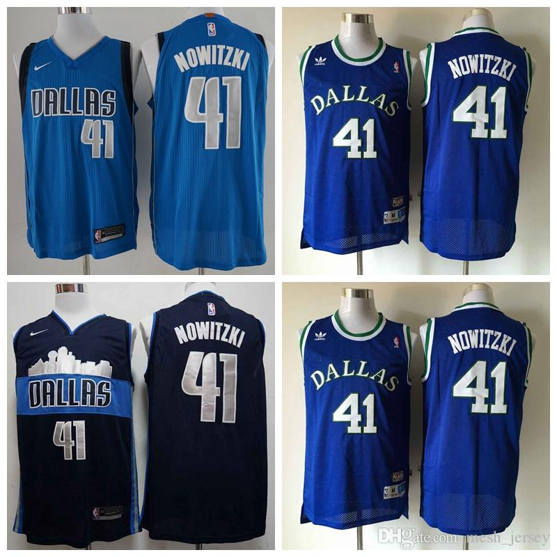 dd5c2dd53 ... replica nba jersey blue 0048b e058f  discount code for 2018 2019 retro  men dallas basketball mavericks jersey 41 dirk nowitzki stitching jerseys