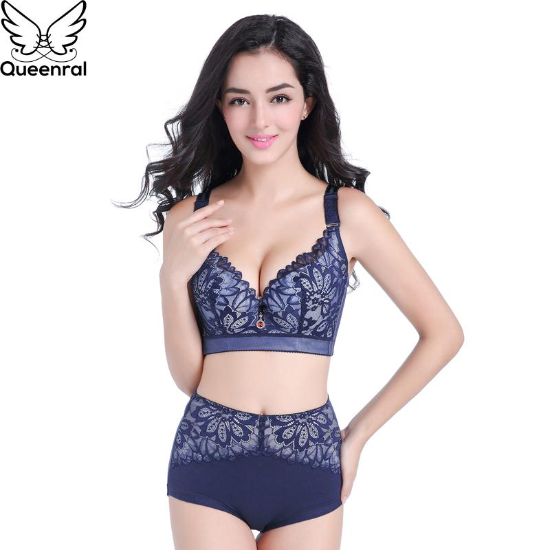 470555260ad76 2019 Queenral Plus Size Lingerie Set For Women Underwear Bra Set Sexy Lace  Bra And Panties Super Push Up Intimates Brassiere From Regine, $23.55 |  DHgate.