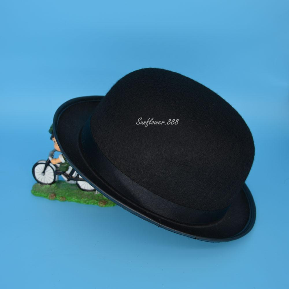 e60adf12a74 2018 Cute Black Felt Bowler Hat Top Hat Fancy Dress Props For Adults Party  Hats Wedding Daily Wear Christmas New Year Led Party Hat Little Party Hats  From ...